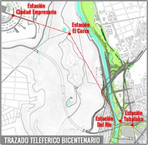 Trazado Teleferico Bicentenario